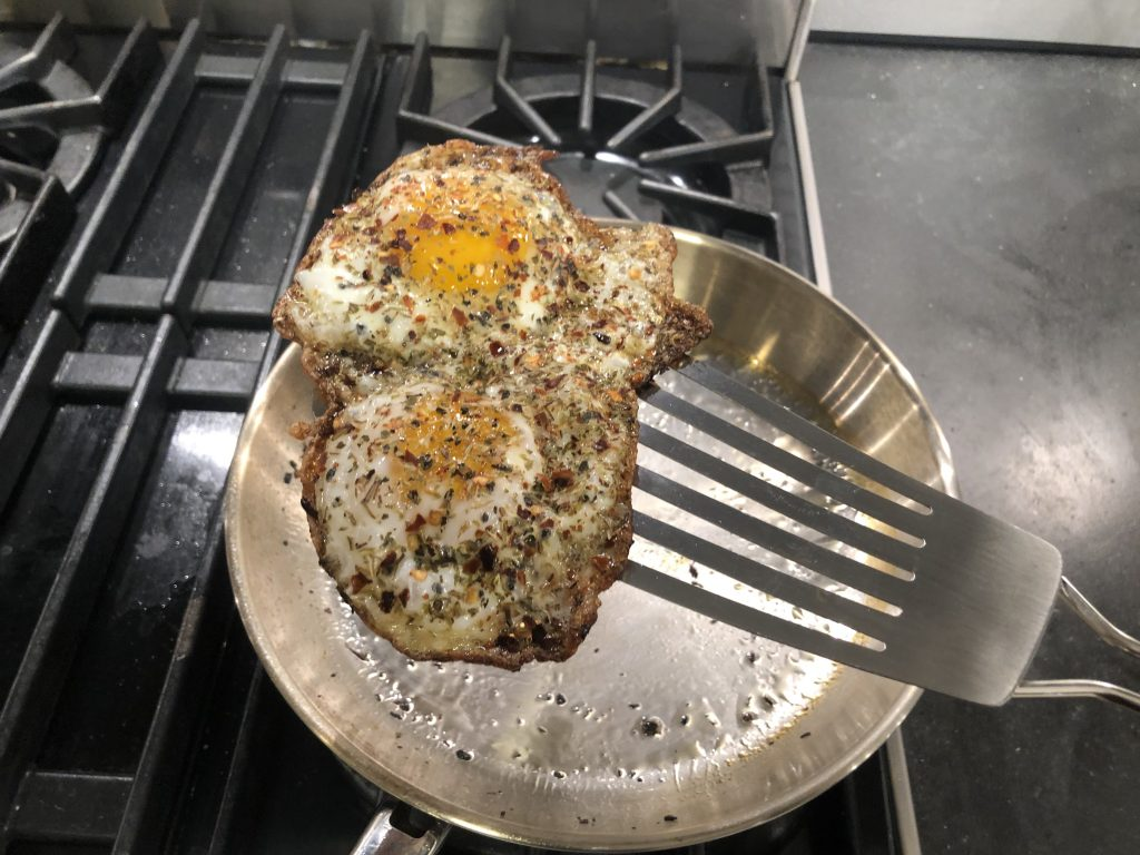 Finished Fried Egg