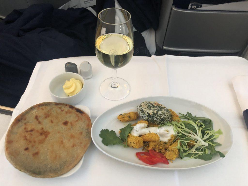 Lufthansa Business Class Food Appetizer