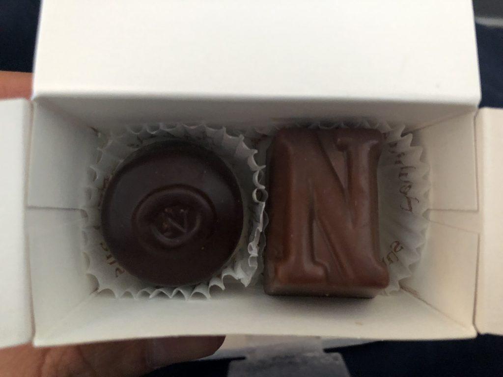 Lufthansa Complimentary Chocolates