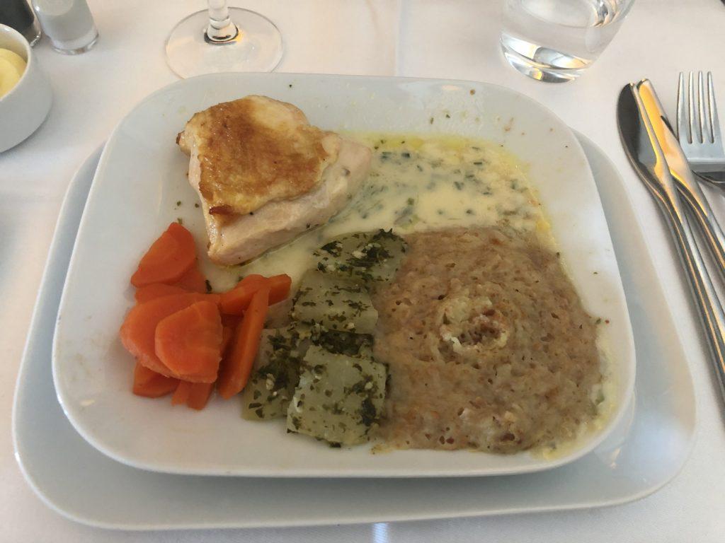 Lufthansa Business Class Food Main Course