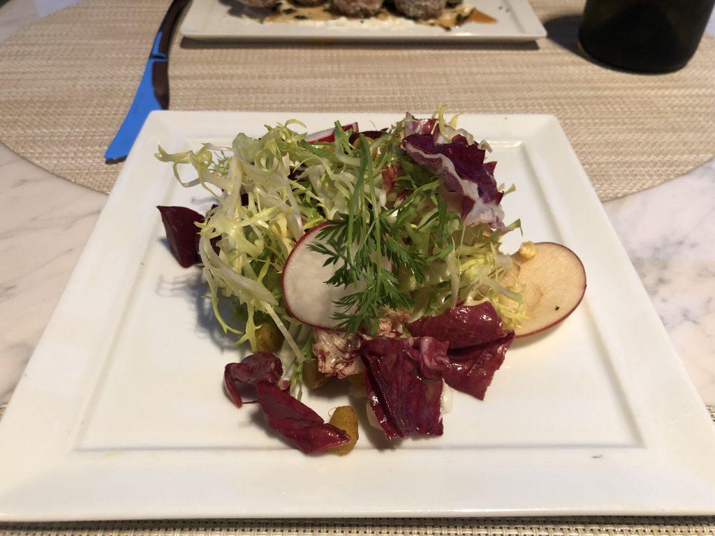 Fresh Autumn Salad United Polaris Lounge