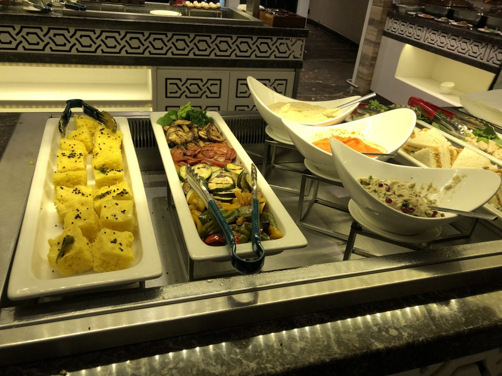 GVK lounge fruit and veggies