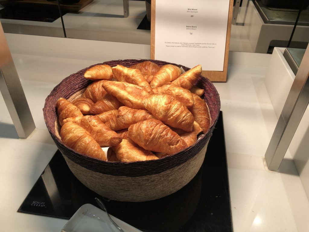 Basket of croissants