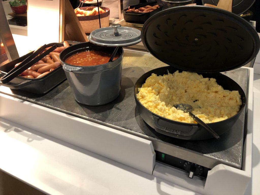 Lufthansa Frankfurt Lounge breakfast
