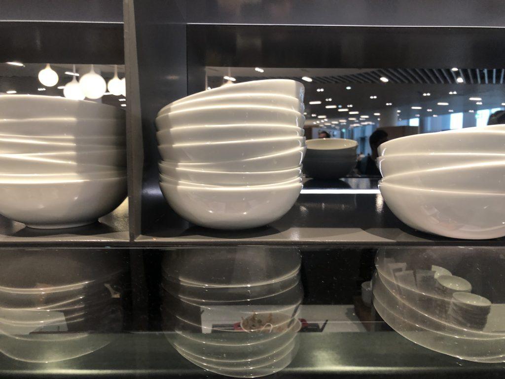 Lufthansa Frankfurt Lounge large bowls