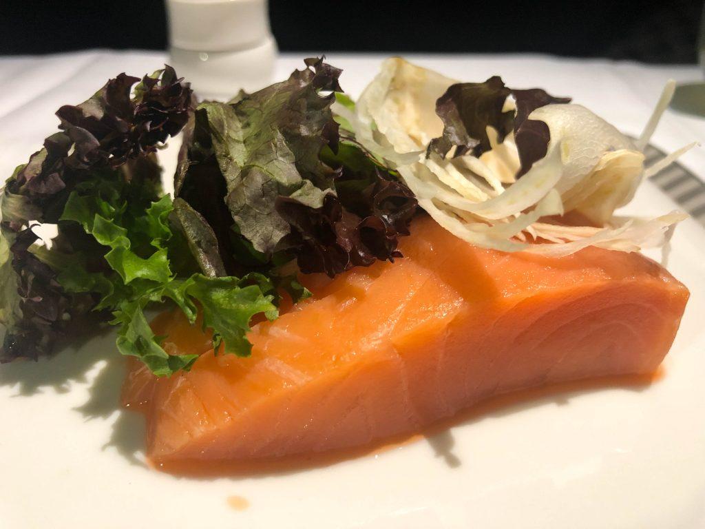 salmon sashimi closeup