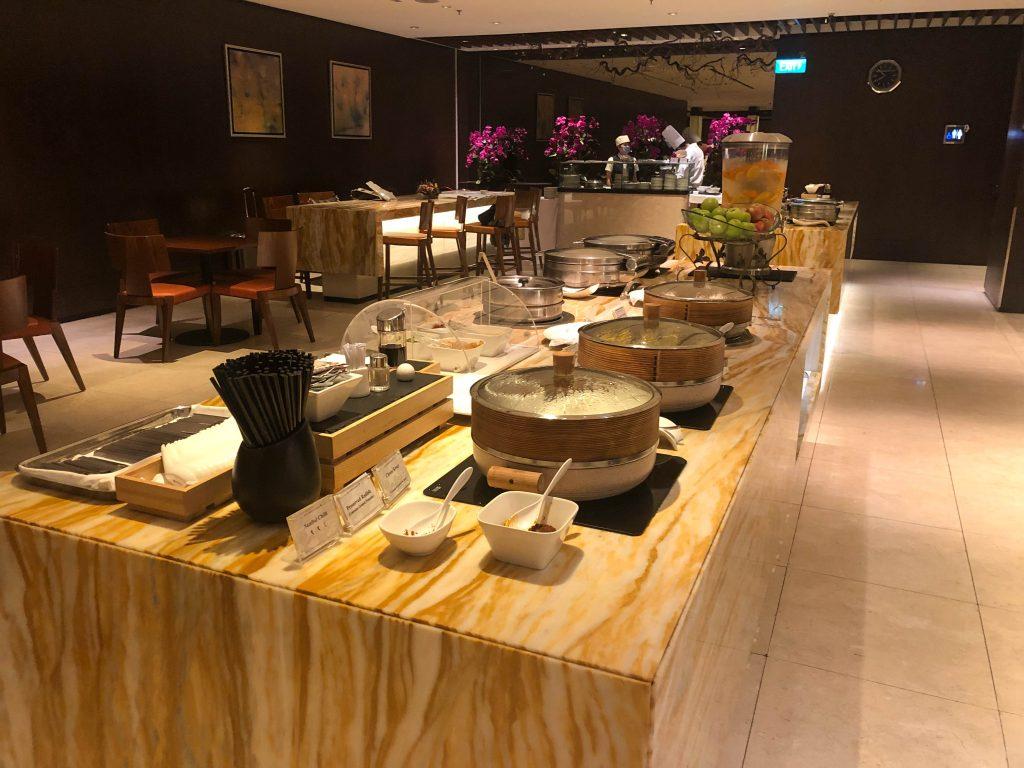 Changi Airport in Singapore lounge food