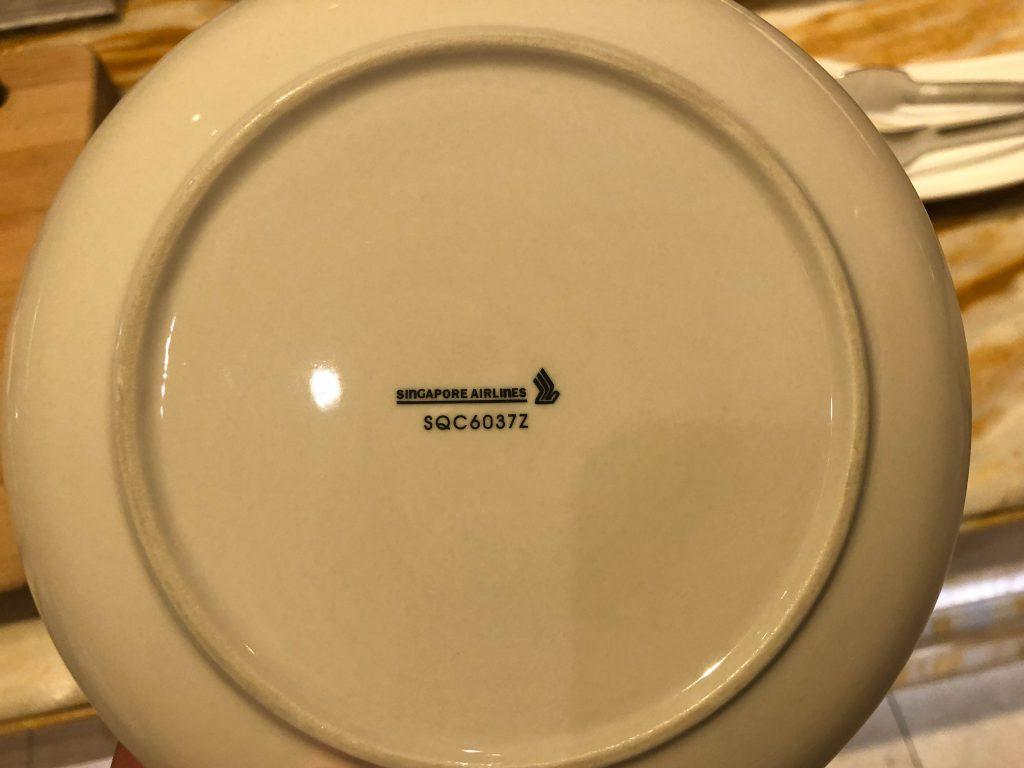 Singapore airlines dinnerware