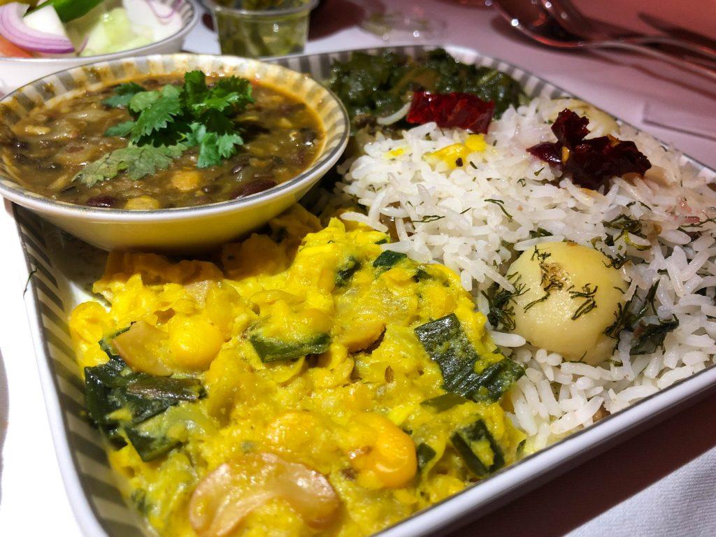 Entree Closeup of Thali