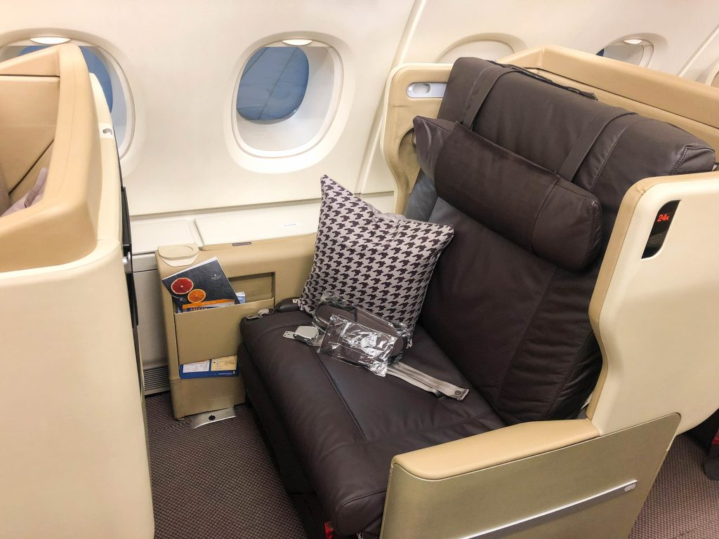 Singapore airlines a380 seat