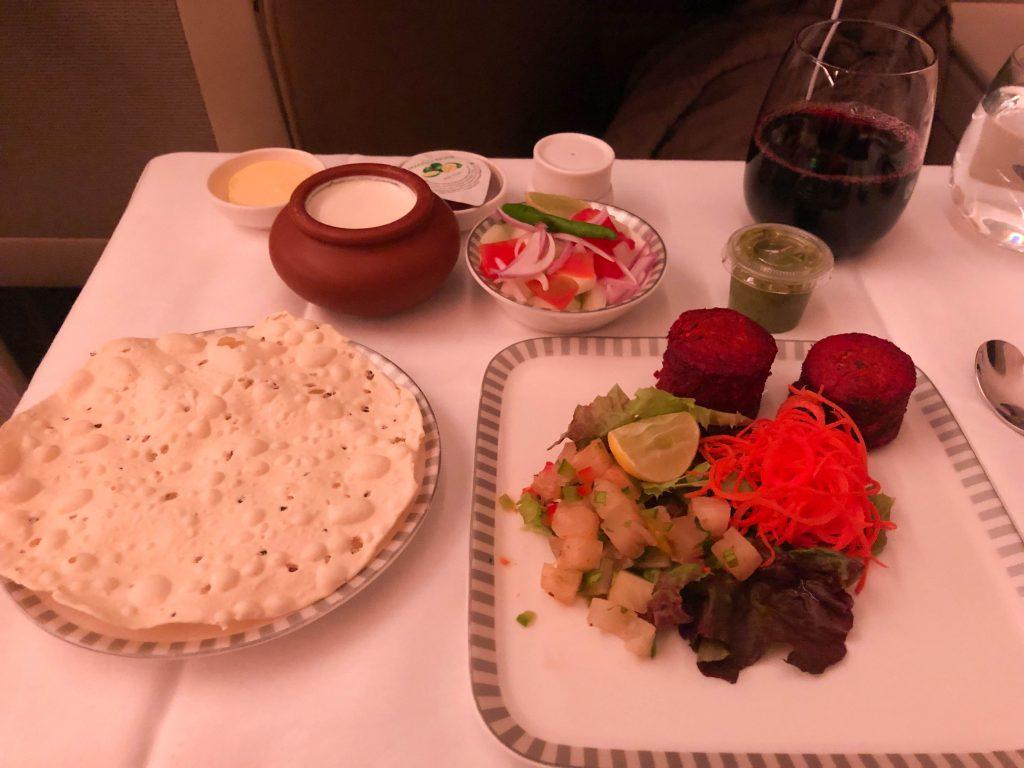 in flight appetizer