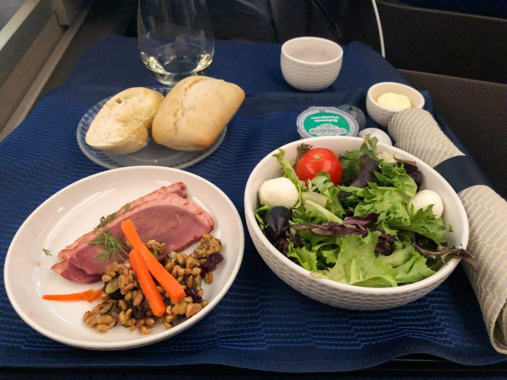 United Business Class Food Appetizer