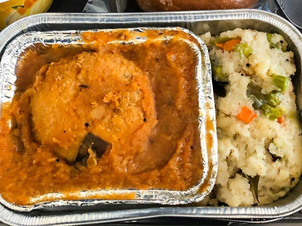 Vistara Airlines Veggie Dish