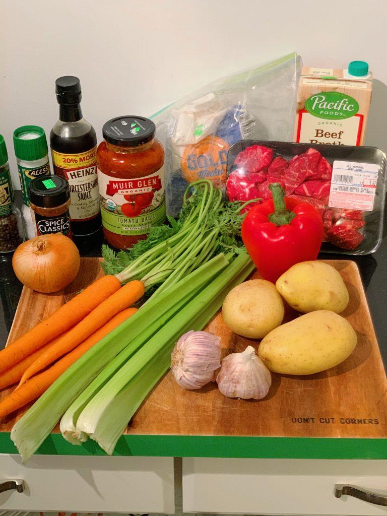 Easy Crockpot Beef Stew Ingredients