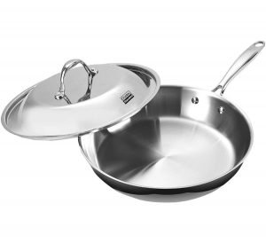 Cooks Stainless Steel Pan with Lid