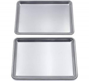 Checkered Chef Stainless Steel Baking Sheet Set