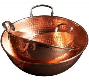 Cooper mixing bowls