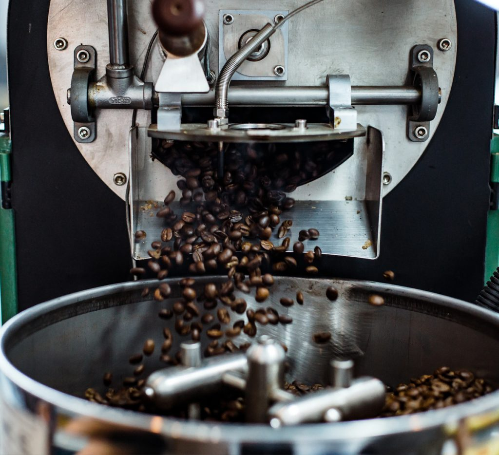 coffee shop roasting beans