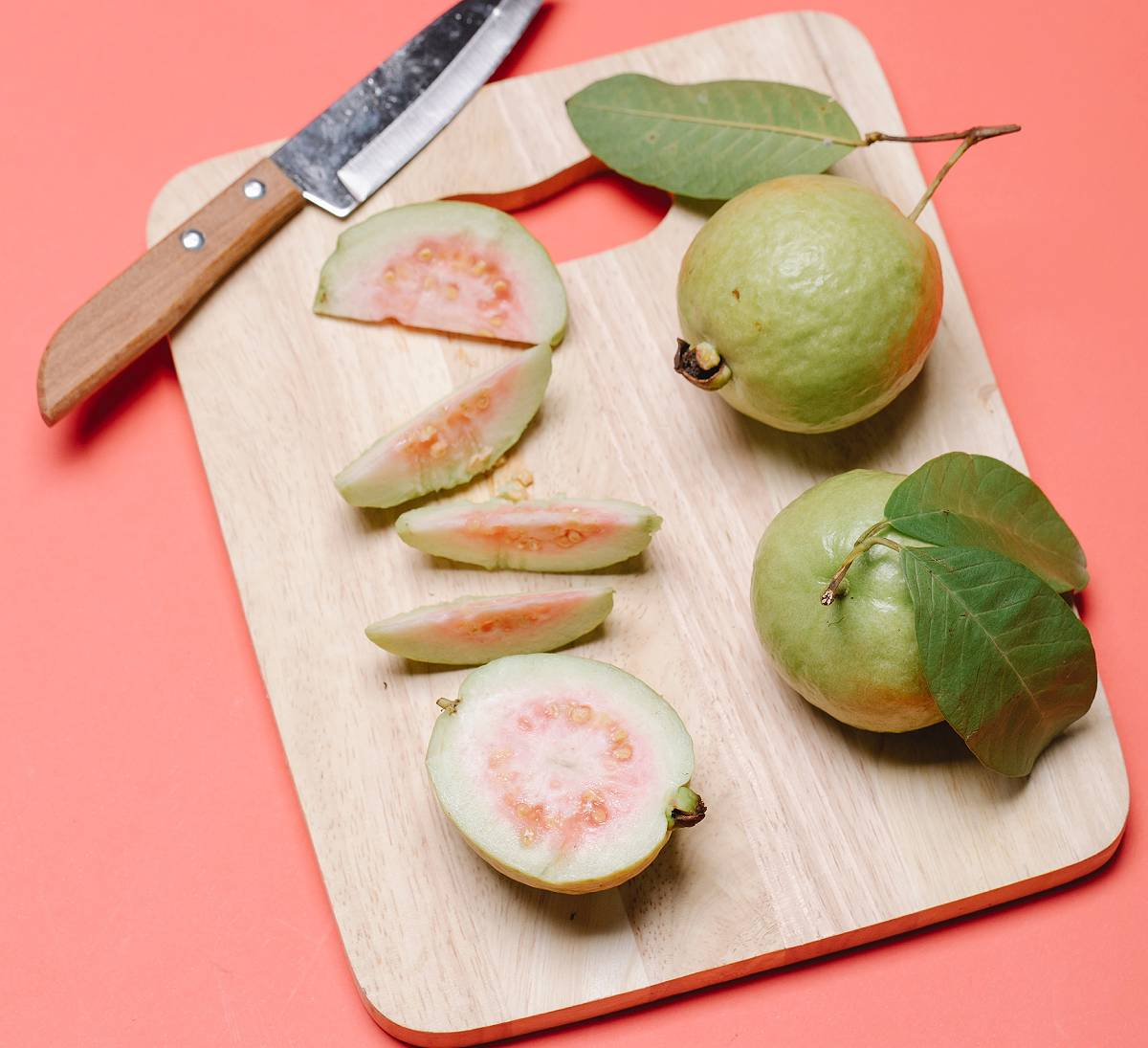 cutting board with fruit